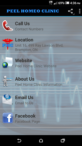 android Peel Homeo Clinic Screenshot 1