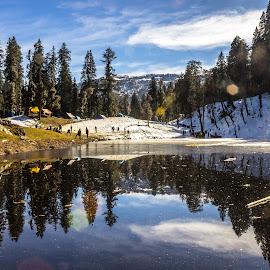 Juda Ka Talab by Saurabh Tamhankar - Landscapes Mountains & Hills ( reflection, mountains, winter, snow, himalay, lake, forest, india, travel, landscape )