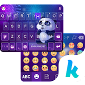 Panda Night Kika KeyboardTheme APK for Bluestacks
