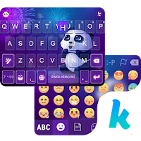 Panda Night Kika KeyboardTheme For PC (Windows And Mac)