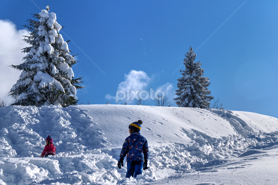 Snow by Dalibor Jud - Babies & Children Children Candids ( winter, zima, snow, white, croatia, gorski, snijeg, deep, kotar, hrvatska, kupjak )