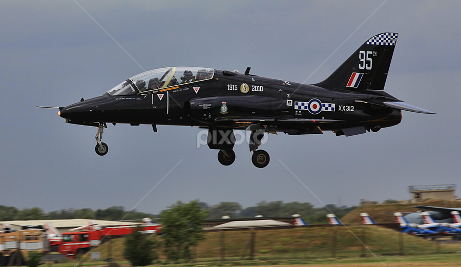 RAF Hawk, jet trainer by Steve BB - Transportation Airplanes ( red arrows, aircraft, jet, trainer, hawk )