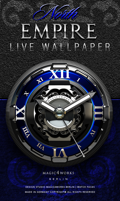 HD Analog Clock Bundle LWP 4 Screenshot 0