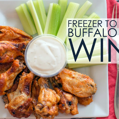 Freezer to Crockpot Buffalo Chicken Wings