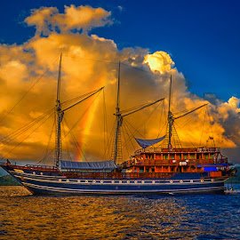 When the rainbow became sails by Ipin Utoyo - Transportation Boats
