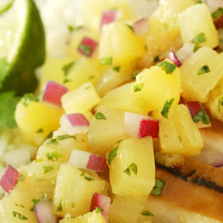 Ginger Glazed Chicken with Pineapple Salsa
