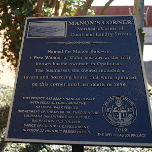 Named for Manon Baldwin, a Free Woman of Color and one of the first known businesswomen in Opelousas. The businesses she owned included a tavern and boarding house that were operated on this corner ...