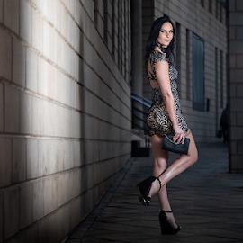 Miss CB by Gerrit de Graaff - People Fashion ( photooftheday, dress, nikon d, beauty, shadow, heels, nikonshooter, building, nikon, beautiful, brunette, photographer, nikond, fashion photography, photography, fashion )