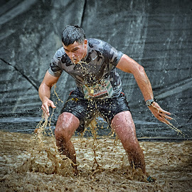 Up'n Go ! by Marco Bertamé - Sports & Fitness Other Sports ( muddy, water, differdange, strong, 2015, brown, number, soup, strongmanrun, 1611, man, luxembourg )
