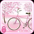 App Sakura Pink Bicycle Locker Theme apk for kindle fire