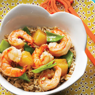 Teriyaki Pineapple Shrimp with Dashi Rice