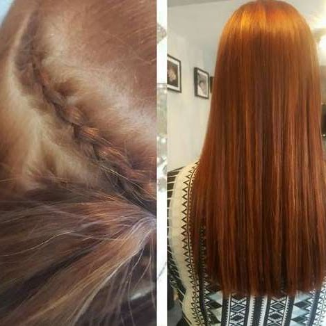 Hair extension gemma louise the la weave is a more comfortable alternative to the braided weave it consists of rows of micro rings with a weft of hair sewn to the top pmusecretfo Choice Image