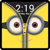 Zipper Lock Screen Yellow APK for Bluestacks