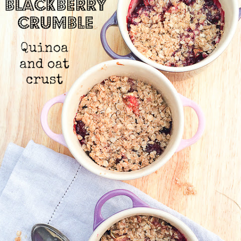 Fig and Blackberry Crumble with an Oat and Quinoa Crust