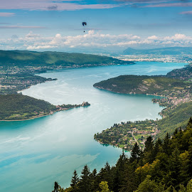 Flight over Annecy lake by Tzvika Stein - Landscapes Travel (  )