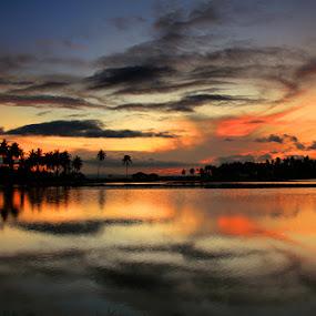 Senja Saga by Suwito Pomalingo - Landscapes Waterscapes