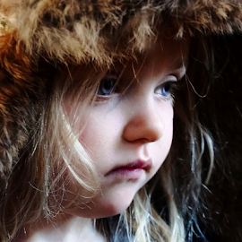 Thinking about the Hat by Cheryl Korotky - Babies & Children Child Portraits