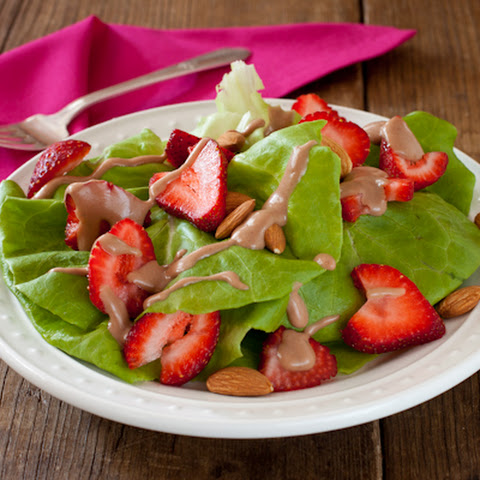 Strawberry-almond Salad With Balsamic Fig Dressing