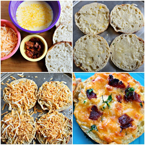 English Muffin Bacon Cheddar Breakfast Pizzas