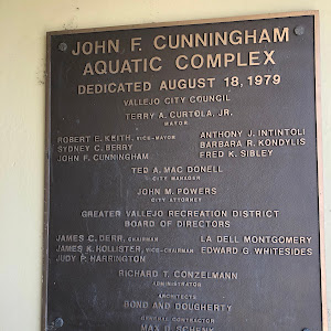 JOHN F. CUNNINGHAM AQUATIC COMPLEX DEDICATED AUGUST 18, 1979 VALLEJO CITY COUNCIL Submitted by Darren Platt