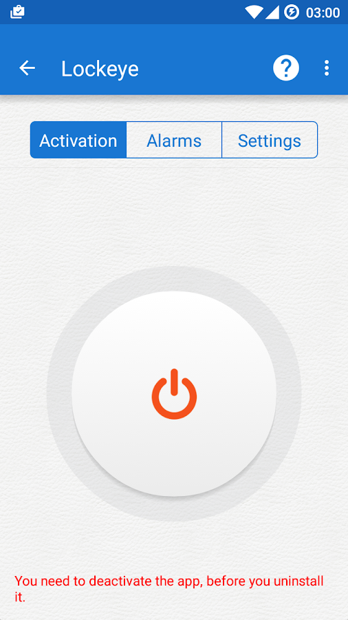 Lockeye : Wrong password alarm &  Anti-Theft Screenshot