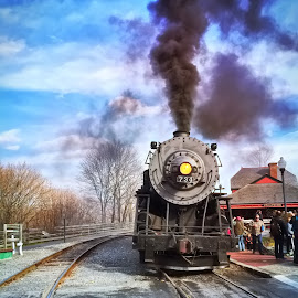 Western Maryland Steam Engine by Chris Montcalmo - Transportation Trains ( railroad, train, trains )