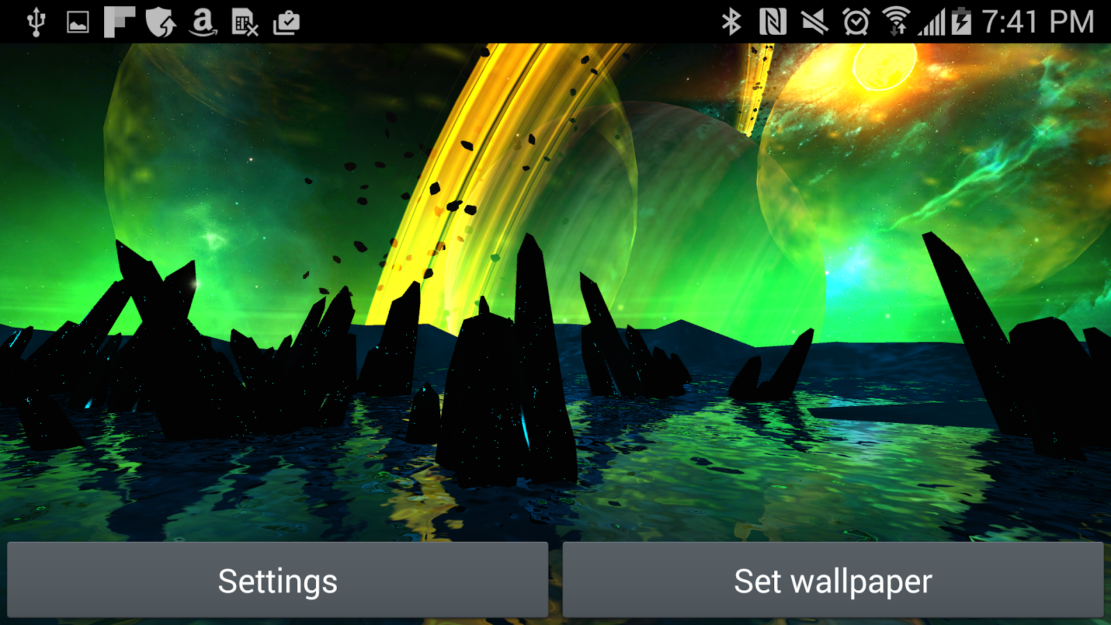 Far Galaxy 3D Live Wallpaper Screenshot 11