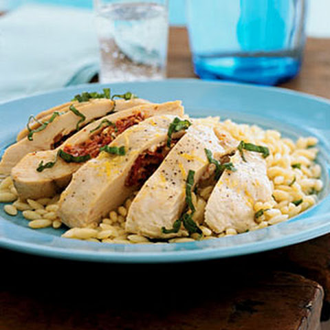 Chicken Breasts Stuffed with Goat Cheese and Sun-Dried Tomatoes Recept ...