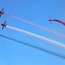 red arrows by Elton Whittaker - Transportation Airplanes