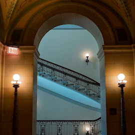Arches and Diagonals by LINDA HALLAUER - Buildings & Architecture Public & Historical
