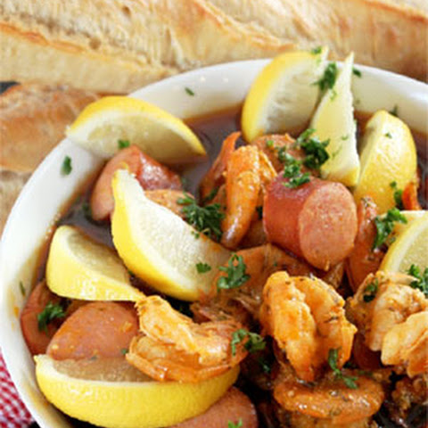 Cajun Mardi Gras Shrimp and Sausage