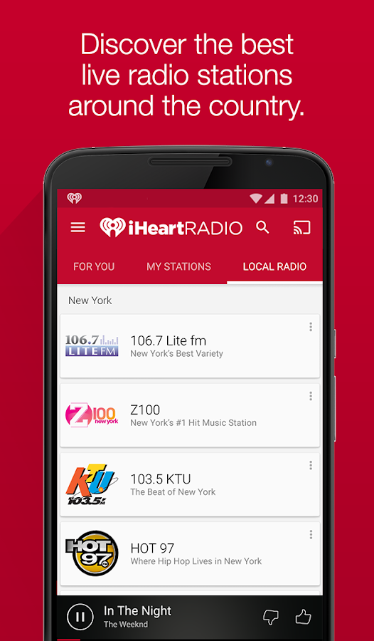 iHeartRadio Free Music & Radio Screenshot 0