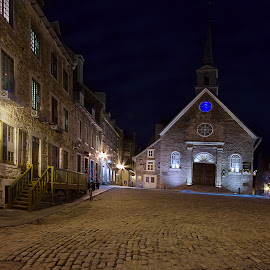 Midnight Court by Olga Charny - City,  Street & Park  Historic Districts ( quebec )