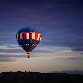 Balloons by RS Bartlett - Transportation Other ( clouds, hot air balloon, colorful, sunrise, balloon )