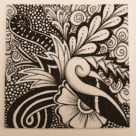 Abstract art by Erika Kehlet - Drawing All Drawing ( henna, abstract, monochromatic, zentangle inpired, mandala art )