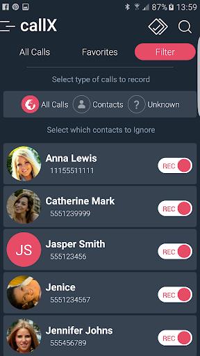 Call Recorder : Automatic Call Recorder - callX screenshot 5