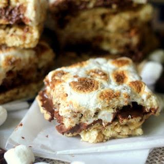 Stuffed S'mores Crispy Treats