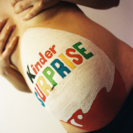 Kinder Surprise by Adrian Popescu - People Maternity ( film, expired, 35 mm, body painting, analog, analogic, egg, portrait, belly, woman, pregnancy, pregnant, analogue,  )