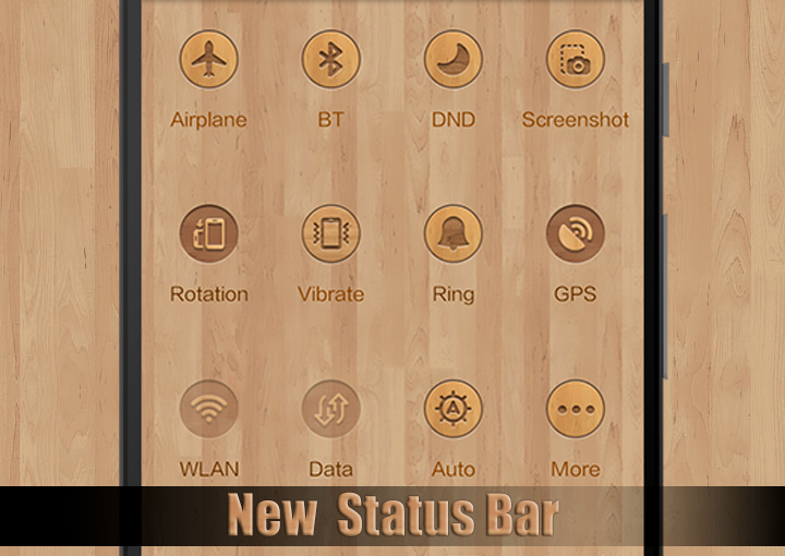 CM13 Wood Theme Screenshot 0