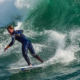 HB Surfer by Jose Matutina - Sports & Fitness Surfing ( orange county, surfer, california, sea, sport, ocean, huntington beach )
