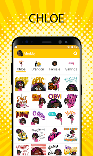 AfroMoji - African Afro Emoticon Stickers Black Android App Screenshot