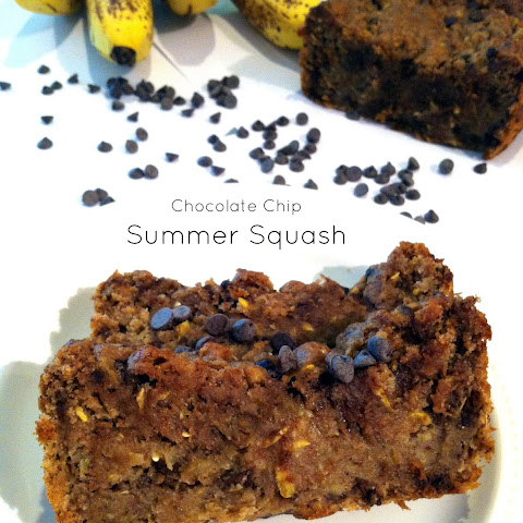 Chocolate Chip Summer Squash Banana Bread + Truebar Giveaway Winner