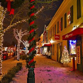 Christmas in Old Worthington Ohio  by Karen Gorski - Public Holidays Christmas
