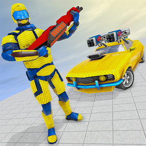 Muscles Car Robot Wars: Multi Transform Battle For PC / Windows 7/8/10 / Mac – Free Download
