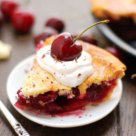 Cherry Pie with Coconut Cream