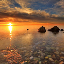 Sunset at Crescent beach, BC Canada by Charlie Hwang - Landscapes Sunsets & Sunrises