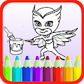 Game New PJ Hero Mask Coloring Book APK for Windows Phone