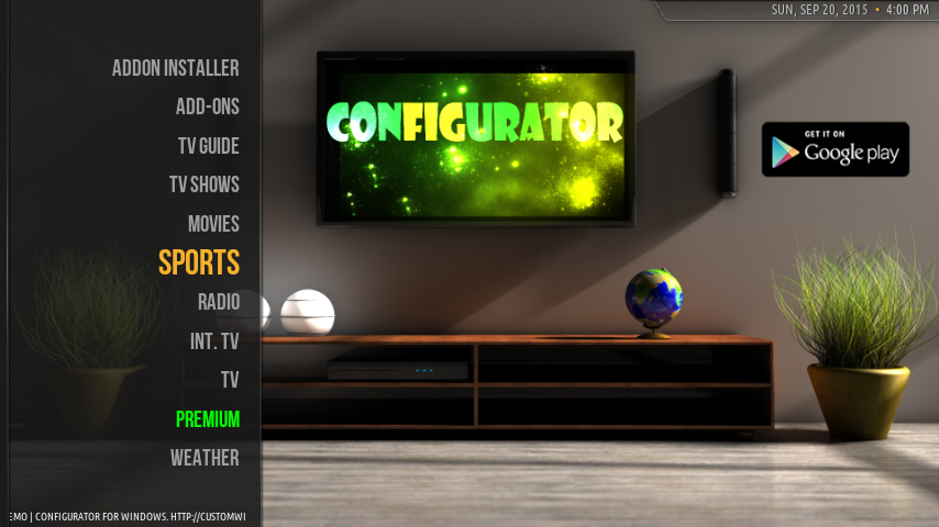 Configurator4Kodi TV Screenshot 1