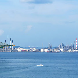 Shell Pulau Bukom Refinery by Dennis Ng - City,  Street & Park  Vistas