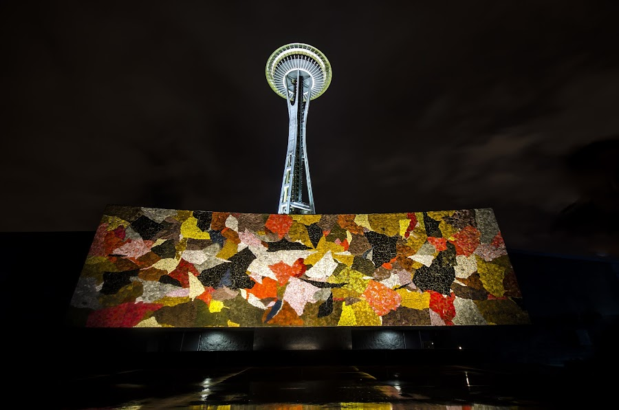by Kam Mccallister - Buildings & Architecture Statues & Monuments ( modern, space needle, art, night, cityscape, city,  )